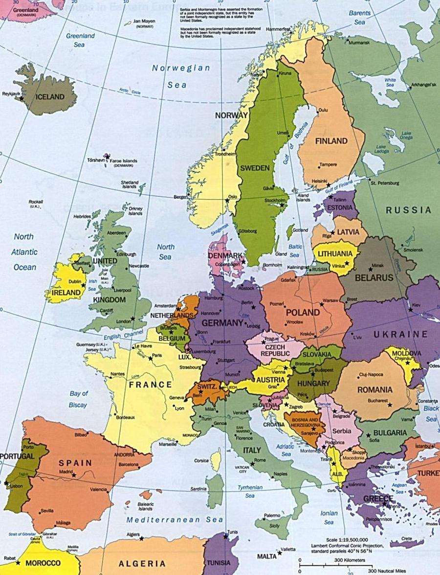 mapa europa El mapa político de Europa   9 mayo, Día de Europa mapa europa